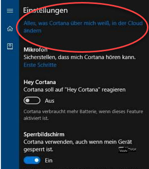 Cortana seit Version 1607