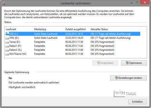 Storage Optimizer, Windows 8
