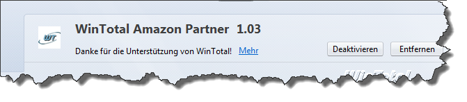 Amazon WinTotal-Partner Add-on für Firefox