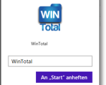 WinTotal anheften, News