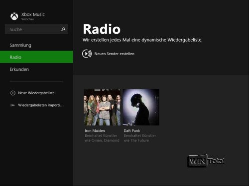 Windows 8.1, XBox Music