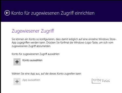 Windows 8.1 Zugriff