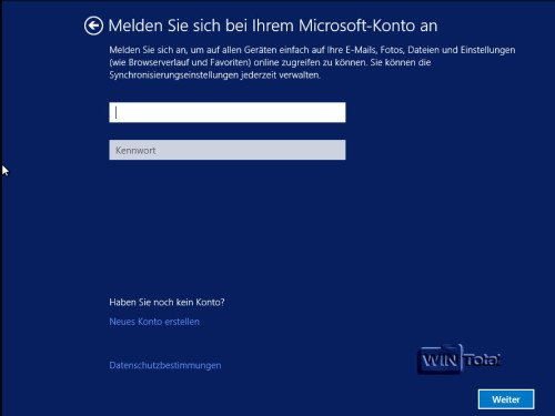 Windows 8.1 Konto