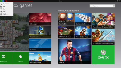 App Commands bei xbox games