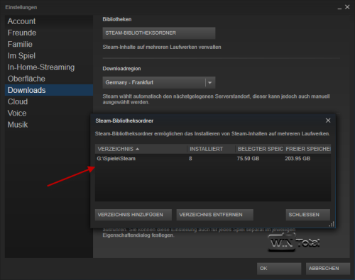 Bibliotheksordner in Steam