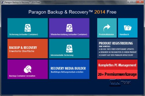 Paragon Backup & Recovery Free 2014