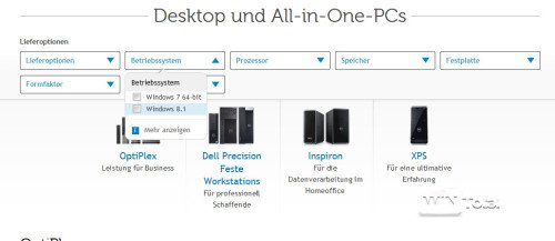 Dell Systeme mit Windows 7
