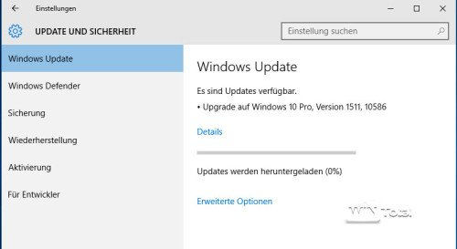 Windows 10 Upgrade 1511