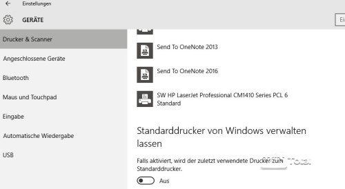 Drucker Windows 10