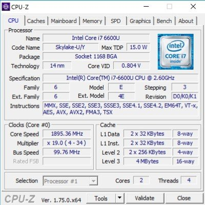 CPU in dem i7-Modell