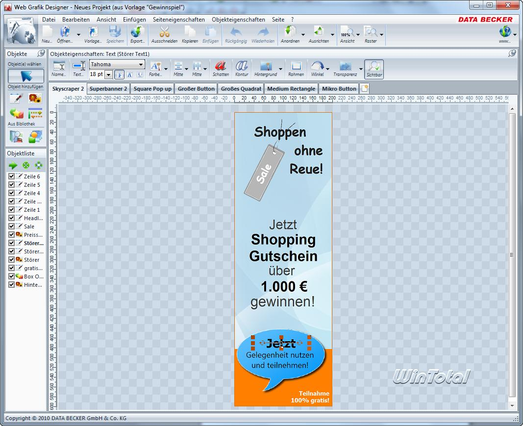 Data Becker Web Grafik Designer - Die Bannerfabrik? - WinTotal.de
