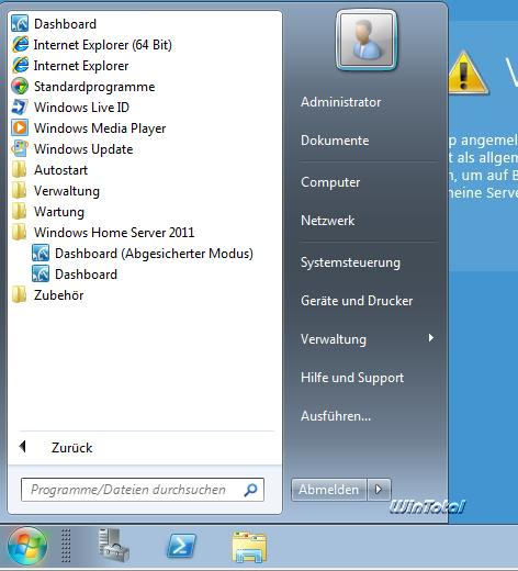 Microsoft Windows Home Server 2011 - Fortschritt