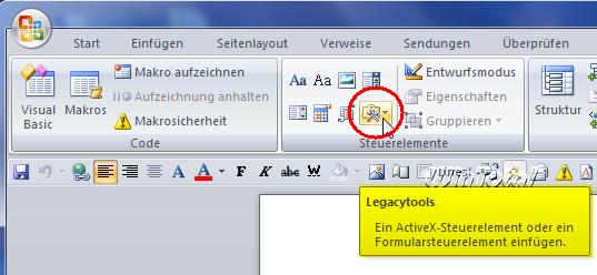 Word 2007 textfeld hintergrund transparent