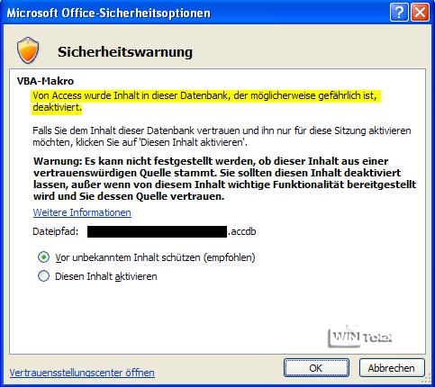 Microsoft Sicherheitswarnung