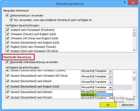 Word dokumente mit worldlingo oder microsoft translator bersetzen lassen tipps tricks for Deutsch englisch translator
