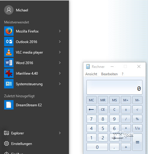 Alter Calc unter Windows 10