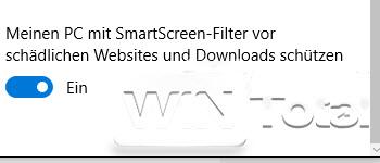 Abschaltung Smartscreen
