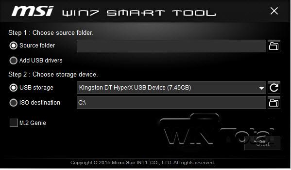 MSI Win7 Smart Tool