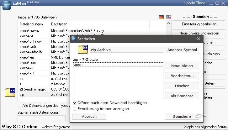 Dateitypen bearbeiten