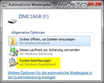 windows 7 readyboot deaktivieren