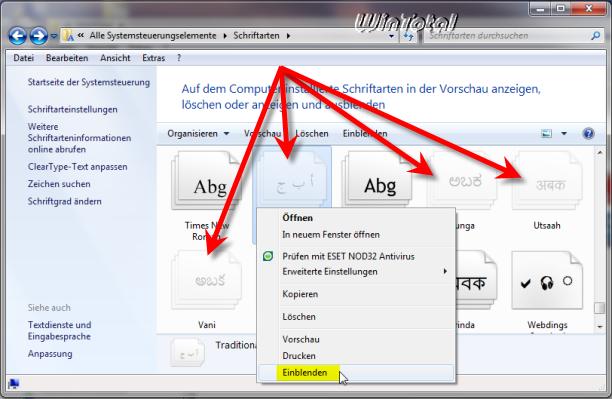 Windows 10 Schriftarten Ordner