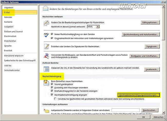 Desktopbenachrichtigung Länger Anzeigen Für Ms Outlook Und Imap