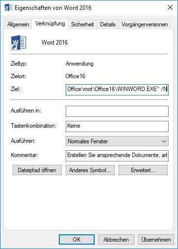 WinWord mit Parameter