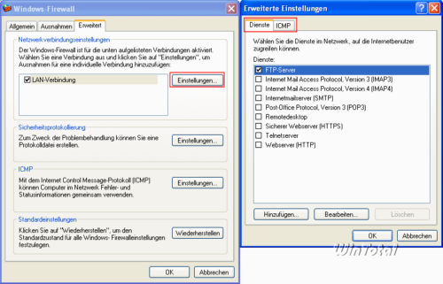 ICMP bei der Windows-Firewall einstellen