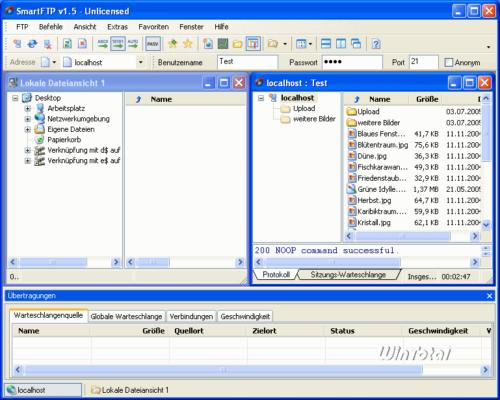 SmartFTP – Verbunden