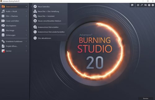 Ashampoo Burning Studio 20 Backup