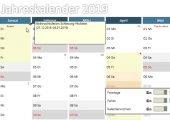 Jahreskalender in Excel