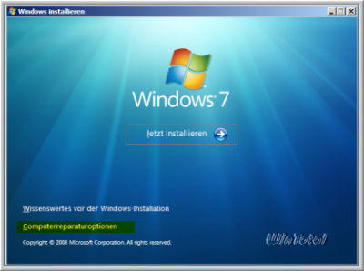 Windows 7 Computerreparaturoptionen