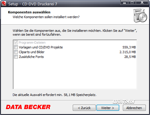 data becker cd dvd druckerei 7
