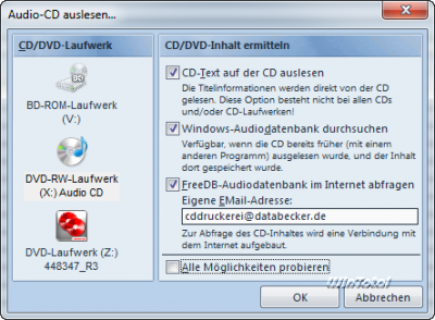 Audio-CD einlesen