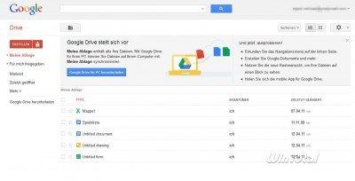 Google Drive im Web