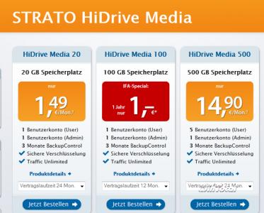Preise für HiDrive