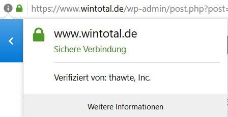 Firefox Zertifikat WinTotal