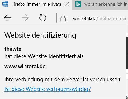 Internet Explorer Zertifikat WinTotal