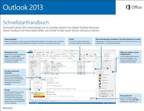 Schnellstarthandbuch Outlook 2013