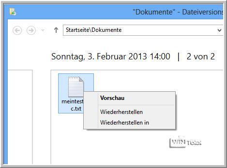 Dateiversionsverlauf, Artikel