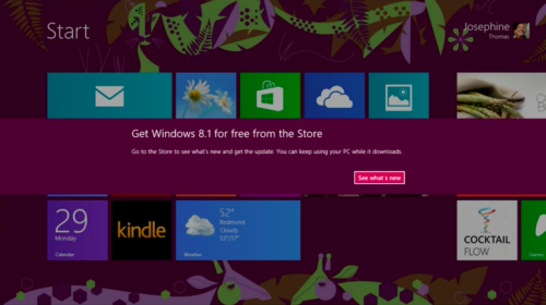 Windows 8.1 Store, Twitter