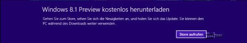 Upgrade Windows 8.1 aus dem Store