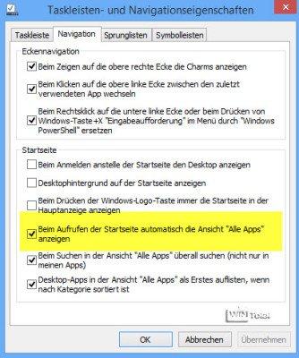 Einstellungen für Desktop
