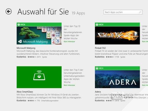 Windows 8.1, Appstore