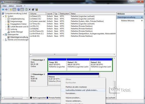 Festplatte in der Datenträgervewaltung, Artikel