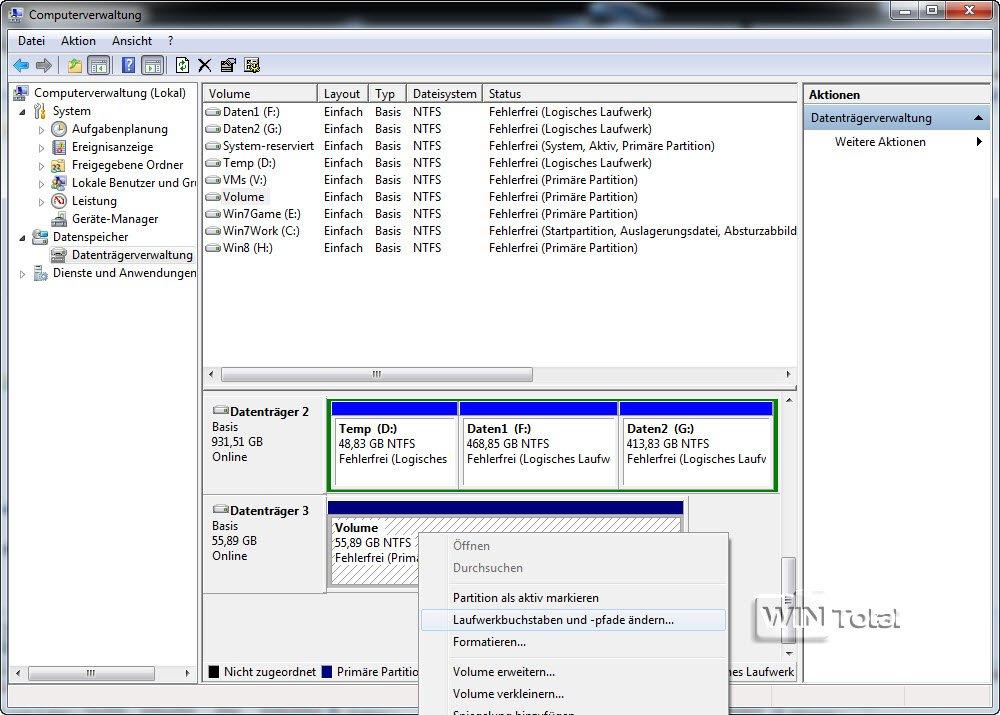 Zweite Festplatte wird nicht angezeigt - WinTotal.de