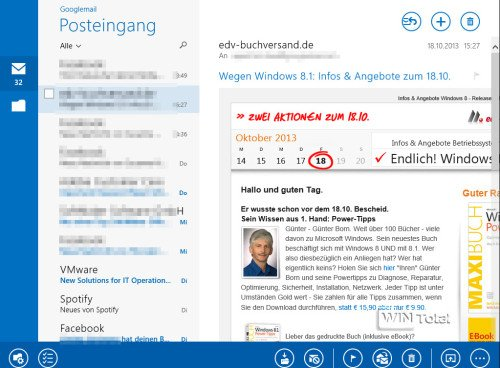 Windows 8.1 Mail