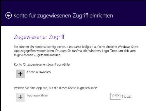 Windows 8.1 Zugriff