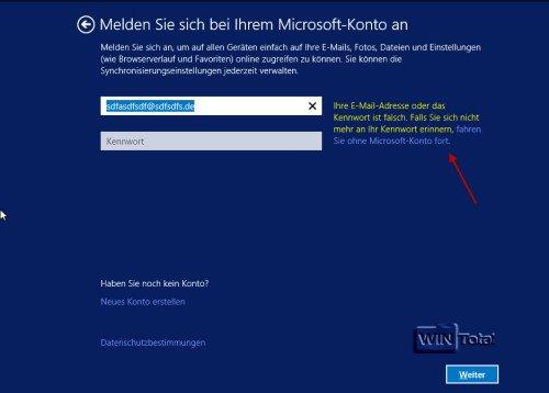 Windows 8.1 Konto