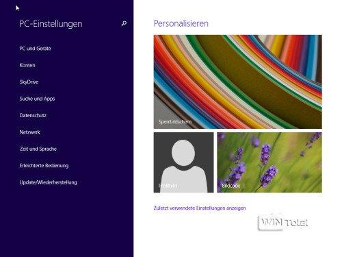 Windows 8.1 PC-Einstellungen
